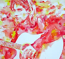 KURT COBAIN playing the guitar by lautir