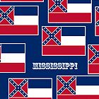 Iphone Case - State Flag of Mississippi - Horizontal II by Mark Podger