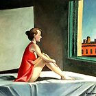 Morning sun after E. Hopper by Kostas Koutsoukanidis