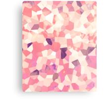 Mod Geometric Abstract Pattern Pink Retro Pastel Metal Print