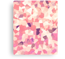 Mod Geometric Abstract Pattern Pink Retro Pastel Canvas Print