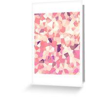 Mod Geometric Abstract Pattern Pink Retro Pastel Greeting Card