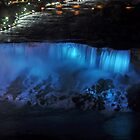American Falls at Night by Linda Long