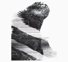 Black and White Glitched Iguana by AluminiumEagles