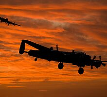 Welcome Home - Avro Lancasters at Dawn by © Steve H Clark