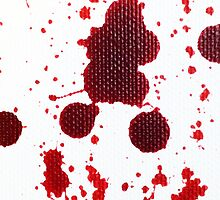 Blood Spatter Knife Drip by jenbarker