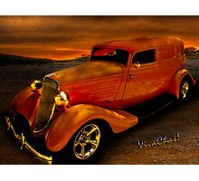 Sedan Delivery Stormy Weather Photographic Print