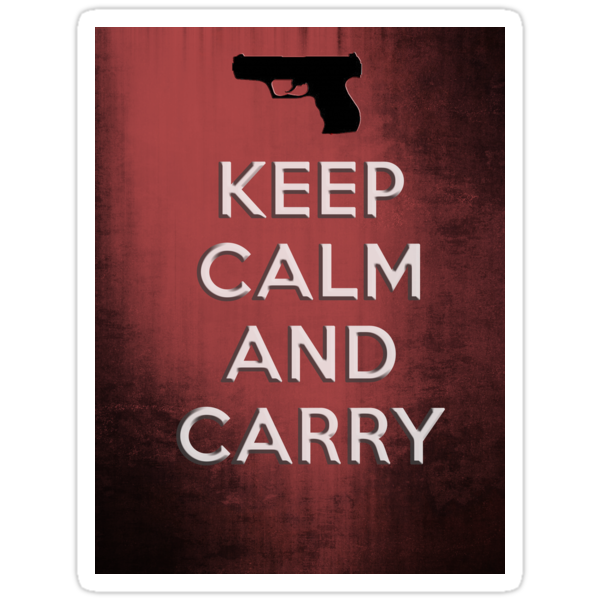 KEEP CALM CARRY - 2ND AMENDMENT RIGHTS GUNS FREEDOM by sturgils