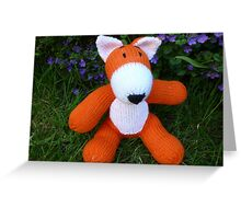 Hand knitted little fox Greeting Card