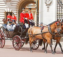 Princess' Beatrice&  Eugenie at Trooping The Colour by Keith Larby