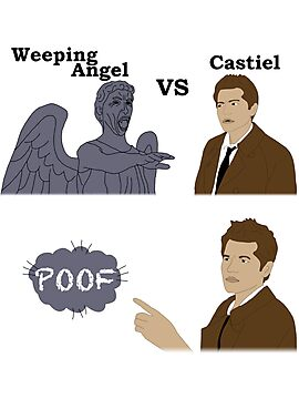 Weeping Angel VS Castiel by Becca Smith