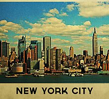 Vintage New York City Skyline by flobaby