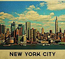 Vintage New York City Skyline by House Of Flo