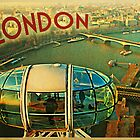 London Eye Vintage Travel Poster by House Of Flo