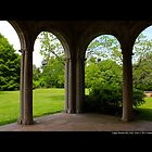 Garden View Through Coe Hall Historic House Museum Arches - Upper Brookville, New York by © Sophie Smith