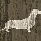 Weathered Wood Dachshund by flobaby