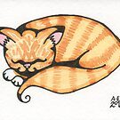 Orange Tabby by Amy-Elyse Neer