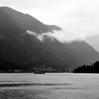 Low Cloud over Lake Como by Karen E Camilleri