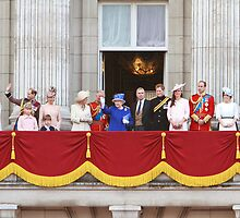 The Royal Family on the Balcony after Trooping The Colour by Keith Larby
