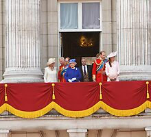 A balcony shot at Trooping The Colour by Keith Larby