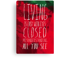 Strawberry Fields Forever - The Beatles - Lyric Poster Canvas Print