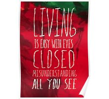 Strawberry Fields Forever - The Beatles - Lyric Poster Poster