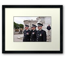 Police At Trooping The Colour Framed Print