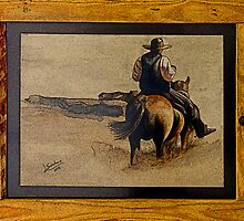 Cowboy Art by L. Sanchez by Al Bourassa