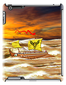 7th to the 4th century BCE Greek Trireme iPhone/iPad by Dennis Melling
