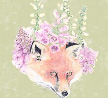 Fox & Foxgloves by SparklyB