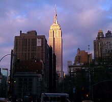 Empire State at Sunset by JoensinForJosie