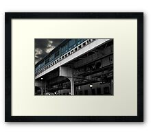 New York Subway Overpass Framed Print