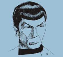 Spock Ink Drawing in Black by Gabrielle Boucher