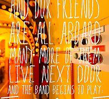 Yellow Submarine - The Beatles - Lyric Poster by burbujaroja
