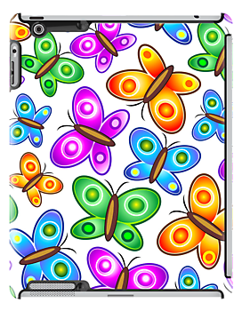 Butterflies Colorful Pop Art Pattern by BluedarkArt