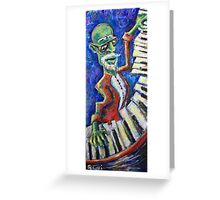 The Acid Jazz Jam - Piano Greeting Card