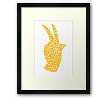 Life Force Hand in Rich Yellow Framed Print