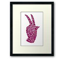 Life Force Hand in Rose Wine Framed Print