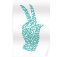 Life Force Hand in Soft Seafoam Teal Poster