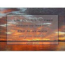 When We're Apart - Genesis 31:49 Photographic Print