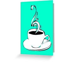 coffee curls Greeting Card