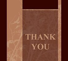 thank you greeting card by maydaze
