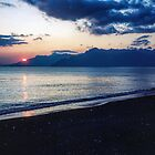 Sunset at camping ground Salerno 198403190045 by Fred Mitchell