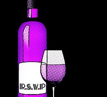 r.s.v.p. bottle of wine by maydaze