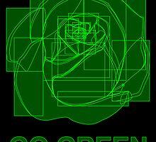 go green digital flower by maydaze