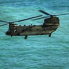 The Chinook Flying into Eastbourne Airshow by Shane Ransom