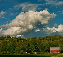 Barn and Clouds by Penny Rinker