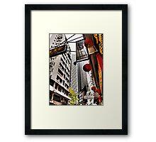 the streets of SoHo Hong Kong Framed Print