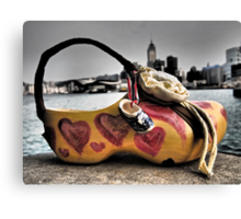 a shoe art bag in Hong Kong Canvas Print