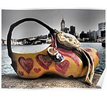 a shoe art bag in Hong Kong Poster